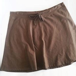 Patagonia Saddle Brown A-Line Drawstring Skirt M